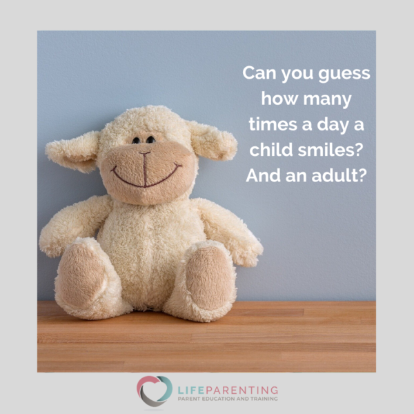 Smiling stuffed animal