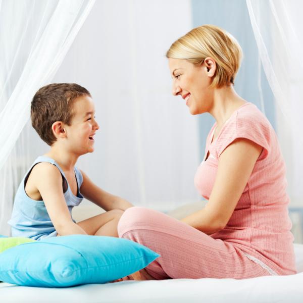 parent and child talk